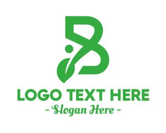 Yard - B Vine Leaf logo design