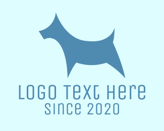 Dog - Blue Dog logo design