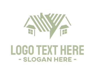 Roofing - House Roof & Windows logo design