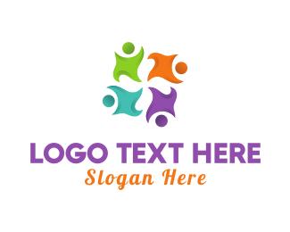 Friends Logo - Human Group logo design