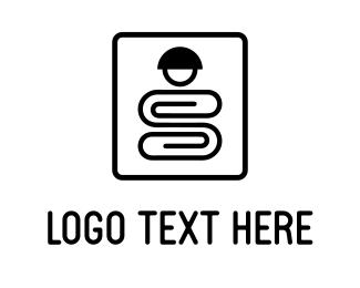 Office Supplies - Clip Character logo design