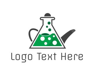 Teapot - Green Lab Tea logo design