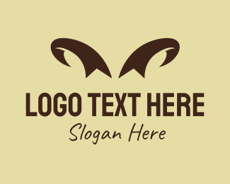 Lamb - Ribbon Horns logo design