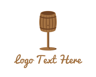 Pub - Barrel Glass logo design
