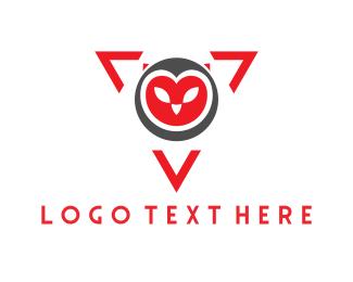 Owl - Owl Triangle logo design