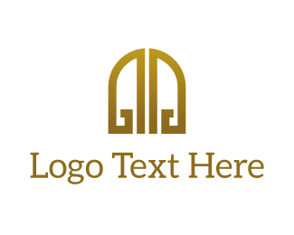 Entrance - Golden Gates logo design
