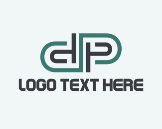 Text - Modern D & P logo design