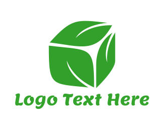 Storage - Leaf Cube logo design