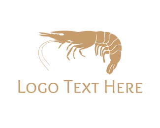 Shrimp - Gold Shrimp  logo design