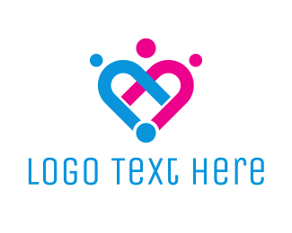 Religious - Linked Hearts logo design