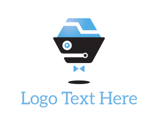 Artificial Intelligence - Robot Bow Tie logo design