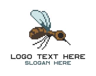 Mosquito - Digital Insect logo design