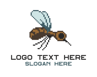 Fumigation - Digital Mosquito logo design
