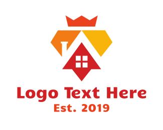 Ruler - Royal Diamond House logo design