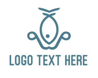 Seaman - Fish Anchor logo design