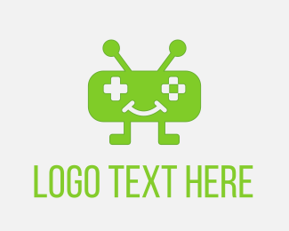 Tech - Green Robo Game logo design