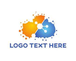 Information - Tech Cloud logo design