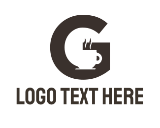 Cafeteria - Coffee Letter G logo design