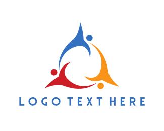 Organization - Colorful Flying Team logo design