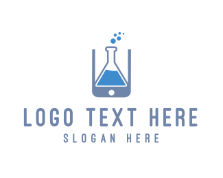 Cellphone - Lab Application logo design