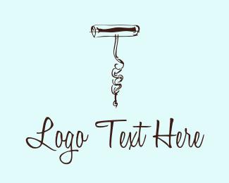 Vineyard - Corkscrew logo design