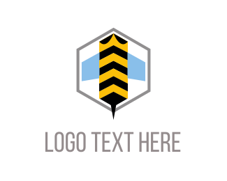 Honeybee - Bee Hexagon logo design