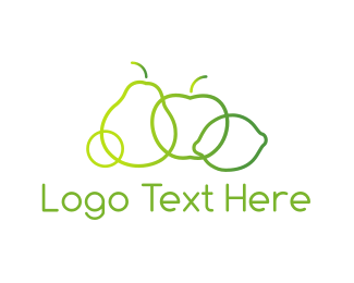 Fruit - Green Fruit  logo design