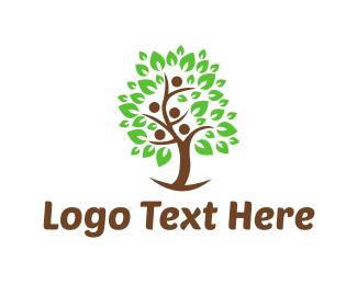 Herbal - Human Tree logo design