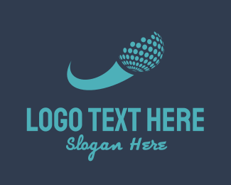 Golf - Golf Ball Swoosh logo design