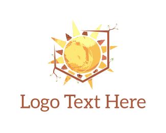 Sunlight - Sun Shield logo design