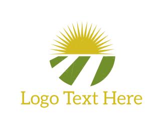 Agriculture - Sun & Agriculture logo design