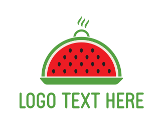 Healthy - Watermelon Tray logo design