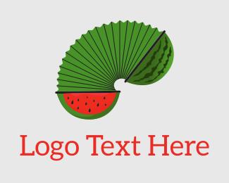 Melon - Watermelon Accordion logo design
