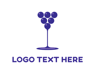 Alcoholic - Wine Drink  logo design