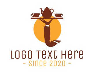 Teapot - Tea Tray  logo design