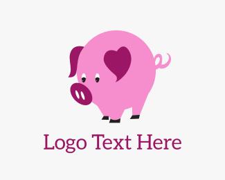 Saving - Pig Heart logo design