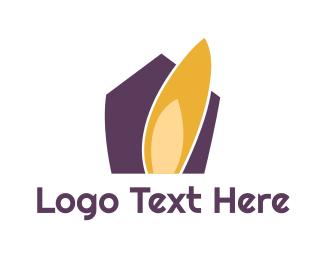 Real Estate - Purple House logo design