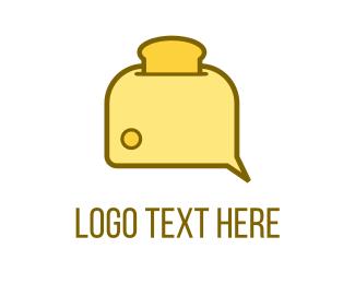 Fiber - Bread Toaster logo design