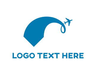 Aviator - Blue Plane logo design
