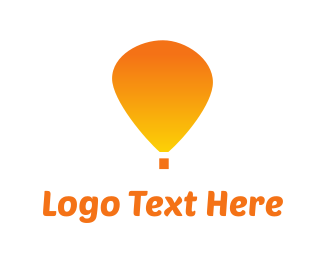 Balloon - Orange Balloon logo design