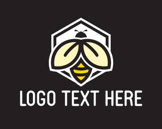 Honey - Bee Honeycomb logo design