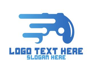 Pistol - Abstract Controller logo design
