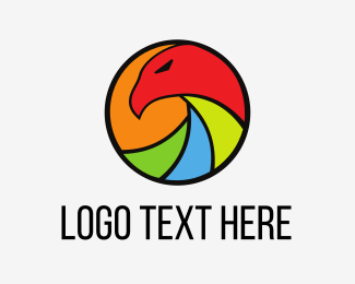 Instagram - Colorful Eagle Circle logo design