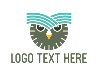 Intelligent - Clock Owl logo design