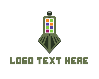 Phone - Train Application logo design