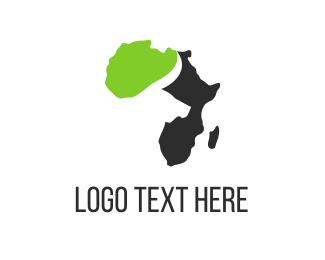 Map - Buffalo & Africa logo design
