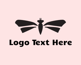 Dragonfly - Dragonfly Silhouette logo design