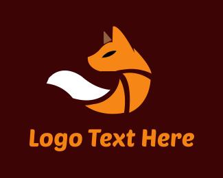 Art - Cute Orange Fox logo design