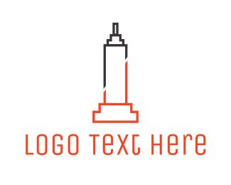 Ny - Abstract Empire State logo design