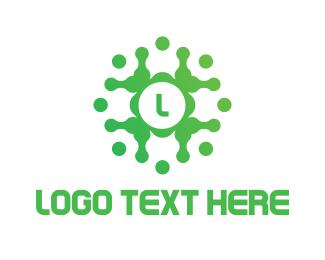 Lettermark - Green Tech Lettermark logo design